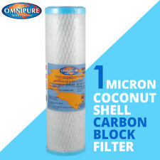 Omnipure OMB934 1 Micron Coconut Carbon Block Water Filter 10""