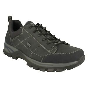 RIEKER TEX B6803 MENS LACE UP WALKING TRAINERS CASUAL LEATHER OUTDOOR SHOES SIZE