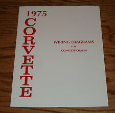 1975 Chevrolet Corvette Wiring Diagram Manual for Complete Chassis 75 Chevy