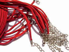 Cord Necklace Leather Suede Black Red Black Pink Brown Green Purple 3mm,  5 Qty