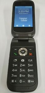 ZTE Link Flip Phone Gray Z2332CC 4G GSM UNLOCKED (Consumer Cellular)