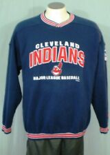 Cleveland Indians Blue Large Sweat Shirt by Lee Sport Embroidered Cotton Blend