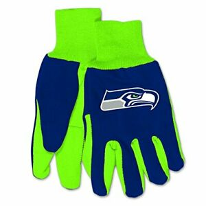 McArthur NFL Seattle Seahawks Embroidered Utility Gloves Pair One Size Fits Most