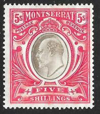 Montserrat 1907 5/- Black & Red SG 33 (Mint)