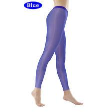 Sexy Shiny High Gloss Elastic Leggings Sheer See Through Long Pants Hosiery Hose