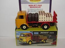 ATLAS DINKY TOYS BERLIET GAK BREWERY TRUCK YELLOW/RED 588