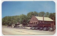 Rhodes Coffee Shop Hotel Cars Scotrun Poconos Pennsylvania 1950s postcard
