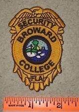 Broward College Florida State FL Fla Campus Security Police GOLD Shoulder Patch