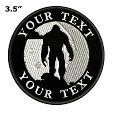 Custom Your Text Bigfoot Embroidered Patch Iron / Sew-On Souvenir Gear Applique