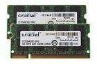Crucial 4GB 2PCS 2GB 2RX8 DDR2 667mhz PC2-5300 Laptop SODIMM RAM Memory CL5 1.8V