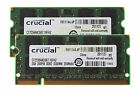 4GB 2X 2GB Crucial 2RX8 DDR2 667mhz PC2-5300 Laptop SODIMM RAM Memory CL5 1.8V