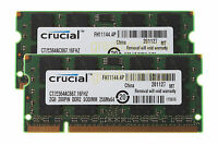 Crucial 4GB 2PCS 2GB 2RX8 DDR2 667mhz PC2-5300 Laptop SODIMM RAM Memory CL5 1.8V