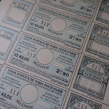 FEUILLE SHEET COLIS POSTAUX POUR PARIS 1930 N°141 x5 NEUF SANS GOMME COTE 200€