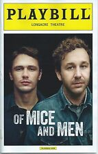 OF MICE AND MEN Broadway Playbill JAMES FRANCO CHRIS O'DOWD