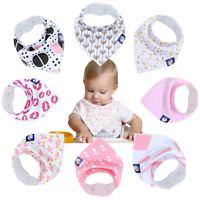 Shipped from CA! NeoCare 100/% Organic Cotton Baby Bandana Bibs with Teethers