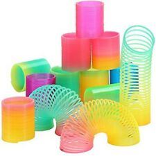 Magic Spring Rainbow - Bouncy Expandable Slinky Toys (Pack of 4) Free Shipping