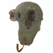 Kakadu Fliegermütze Pilotenmütze 100% Baumwolle Fell Herren Polarday oliv khaki