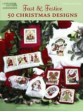 Fast & Festive, 50 Christmas Designs  (Leisure Arts #5522) New Paperback Book De