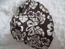 Coton Chapeau Surf Style Motif Floral marron et crème