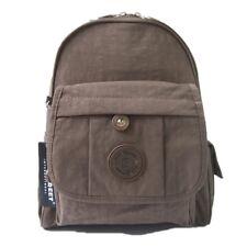 Unisex Pequeño mochila Bag Street bolso de hombro Niño mujer nailon viajes Marrón