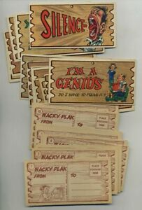 Lot (83) Vintage Topps Wacky Plak Comic Non-Sport Trading Cards yz6876