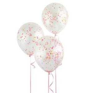 """12"""" Helium Confetti Balloons Clear With Glow In The Dark Confetti, 6-ct."""