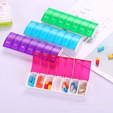 Pill Box Sotrage Weekly Medicine Storage Organizer Container Case 7 Days Ramdom