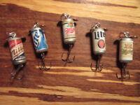5 Different Miller & Miller Lite Beer Promotional Spinning Fishing Lures