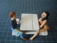 1/18 Scale  Small Picnic Table - Custom Hand Built for your Shop/Garage/Dioramas