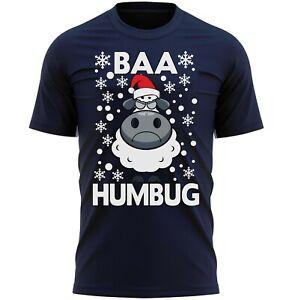 BAA HUMBUG Funny Christmas Gift For Men Adults Fun Novelty T-Shirt Gift