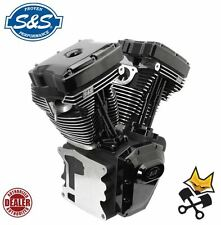 "S&S T143 LONG BLOCK BLACK EDITION 143"" ENGINE HARLEY 99-06 TWIN CAM 310-0833"