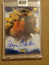 2017 Star Wars Stellar Tom Baker(Bendu voice) Blue parallel 16/25 Autograph Card