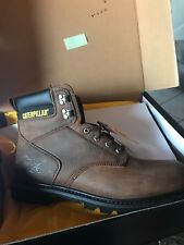 CAT SECOND SHIFT WORK BOOTS / DARK BROWN P72593 SIZE 13