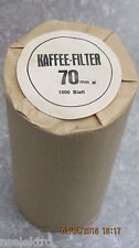 1000 Kaffeerundfilter Kaffeefilter, Rundfilter 70mm WMF 1000, 2000, Filtromat
