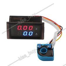 DC 100V ±100A LED Digital Voltmeter Ammeter Monitor Charge voltage current 12V
