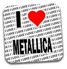 I Love Metallica dessous de Verre - Cadeau - Anniversaire - Poche de Remplissage