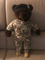 Bear Forces Of America Green Fatigues US Army Teddy Bear Plush Stuffed Military