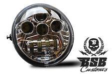 LED SCHEINWERFER mit ECE Zeichen Chrom Harley Davidson V Rod VROD Muscle