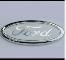 Ford Transit Connect Mondeo Fiesta 115mm x 45mm badge (white)