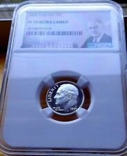 1995-S NGC PF70 ULTRA CAMEO SILVER ROOSEVELT DIME  .10C BRIGHT WHITE & CLEAN