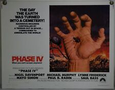 PHASE IV ROLLED ORIG HALF-SHEET MOVIE POSTER SAUL BASS SCI-FI HORROR (1974)