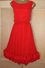 Monsoon ~ Dahlia ~ Rojo Corsage ocasión Noche Cóctel Fiesta Vestido Talla 14