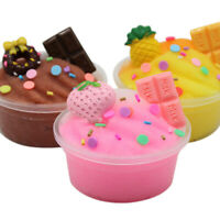 Fruits Chocolate Cotton Mud Puff Slime Putty Scented Stress Kids Clay Toys 60ml-