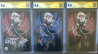 AMAZING SPIDER-MAN #1 VARIANT COVERS A, B, C SIGNED by MARK BROOKS! CGC 9.6