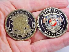 US Marine Corp Challenge coin Collectible Release the Dogs of War Semper Fidelis