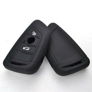 2 Button Silicone Key Cover Case Fob For BMW X1 X5 X6 5 7 Series 16-18 Black