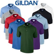 Gildan MEN'S PIQUE POLO SHIRT SPORTS GOLF SMART PREMIUM COTTON COLLAR TOP S-2XL
