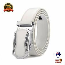 XHTang Fashion Men's Automatic Buckle Real Leather Ratchet Belt Waistband Jeans