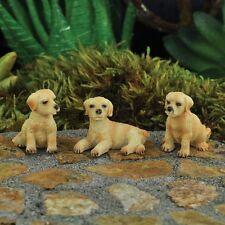 """Fiddlehead Fairy Village """"Mini Hound Dogs Set 3 Asst."""" with Bonus Fairy Decal"""