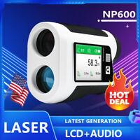 Hunting Golf Range Finder Archery Laser Rangefinder w/ Flagpole Lock LED Digital